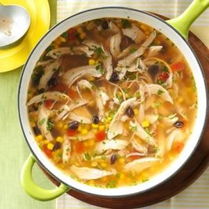 Quick Turkey Tortilla Soup