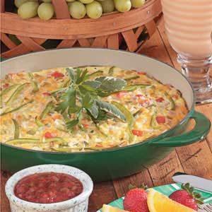 Chili-Cheese Rice Frittata Recipe
