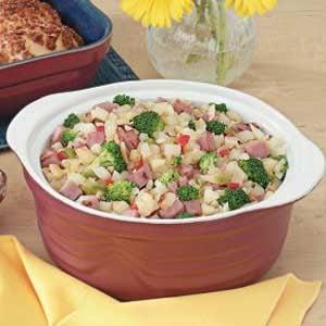 Ham 'n' Broccoli Hash Recipe