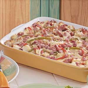 Colorful Ham Strata Recipe
