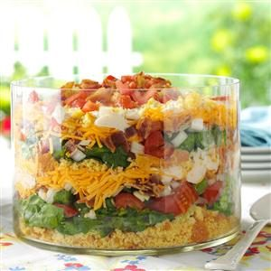 Colorful Corn Bread Salad