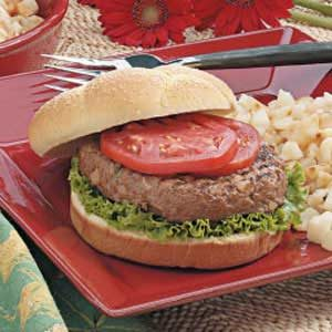Teriyaki Burgers with Water Chestnuts