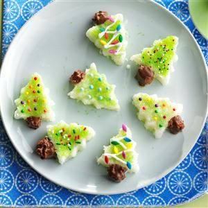 Coconut Yule Trees Recipe