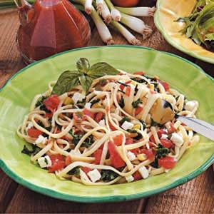 Spinach Tomato Linguine Recipe