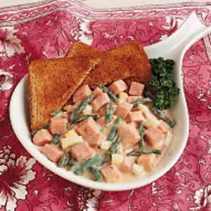 Creamed Ham and Asparagus Recipe