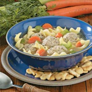 Contest-Winning Turkey Meatball Soup Recipe