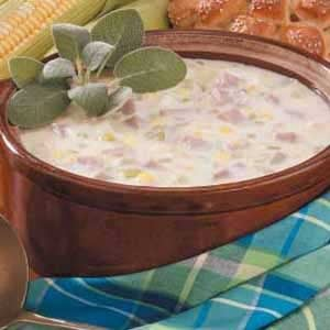 Contest-Winning Ham and Corn Chowder Recipe