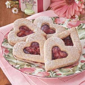 Linzer Heart Cookies Recipe photo by Taste of Home