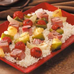 Hearty Ham Kabobs Recipe