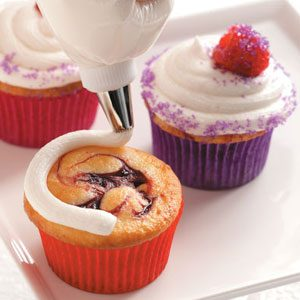 Raspberry Swirl Cupcakes Recipe