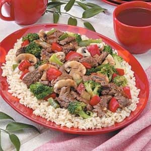 Teriyaki Beef Stir-Fry for 3 Recipe