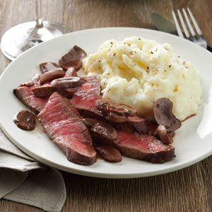 Sirloin with Mushroom Sauce Recipe