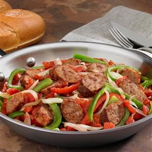 Johnsonville Italian Sausage, Onions & Peppers Skillet Recipe