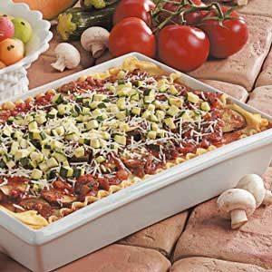 Mushroom Zucchini Lasagna Recipe