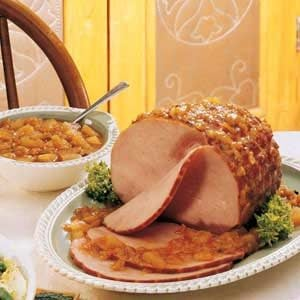 Ham with Peach Chutney