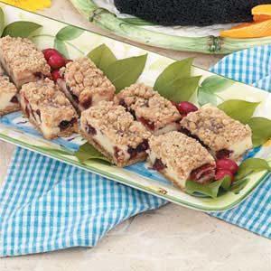 Cranberry Cheesecake Bars Recipe
