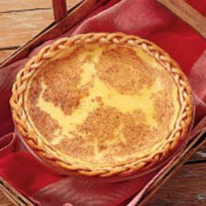 Old-Fashioned Custard Pie Recipe