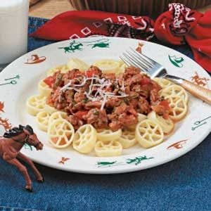 Wagon Wheel Pasta Plate Recipe