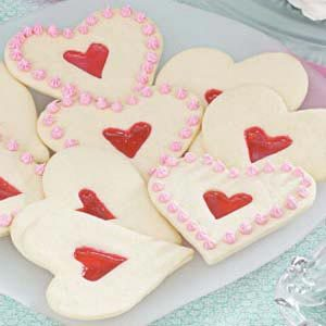 Stained Glass Heart Cutout Cookies Recipe