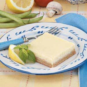Lemon Cheese Squares Recipe