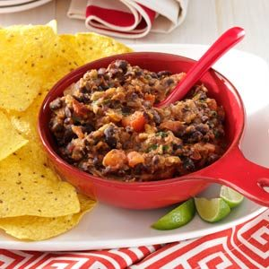 Warm Black Bean Dip Recipe