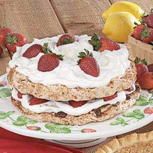 Strawberry Hazelnut Torte Recipe