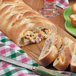 Cheesy Ham Braid Recipe