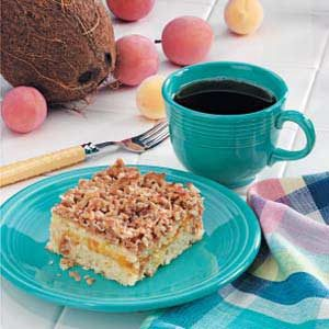 Apricot Coconut Coffee Cake