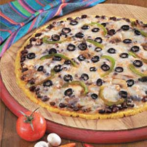 Santa Fe Cornmeal Pizza Recipe