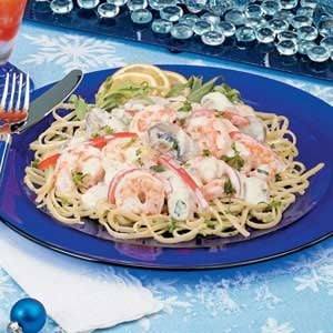 Shrimp with Lemon Linguine Recipe