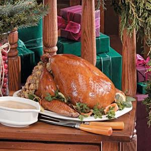 Turkey with Corn Sausage Stuffing Recipe