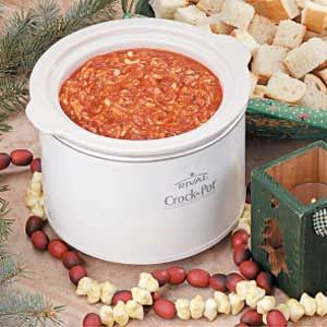 Slow-Cooker Pizza Fondue Recipe