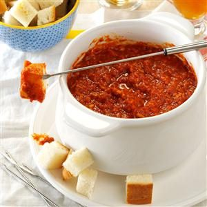 Slow Cooker Pizza Fondue Recipe