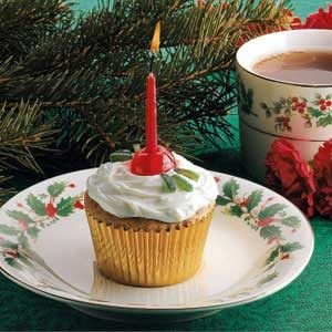 Candied Holly Cupcakes Recipe