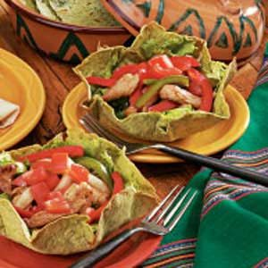 Fajita Tortilla Bowls Recipe