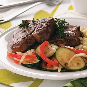 Lamb With Sauteed Veggies Recipe