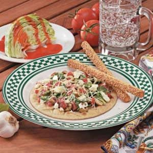 Greek Pita Pizzas Recipe | Taste of Home