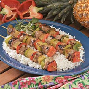 Pineapple Pork Kabobs Recipe