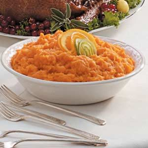 Orange Whipped Sweet Potatoes Recipe
