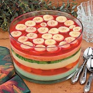 Six-Layer Gelatin Salad Recipe