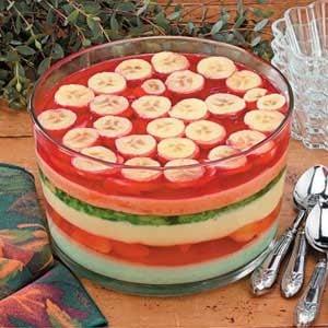 Six-Layer Gelatin Salad Recipe