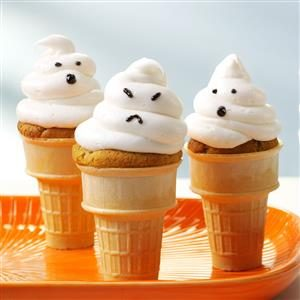 Ghostly Cupcake Cones Recipe