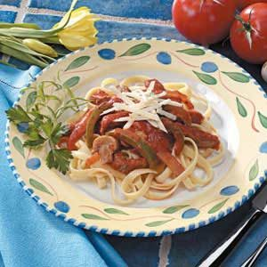Pepper Steak Fettuccine Recipe