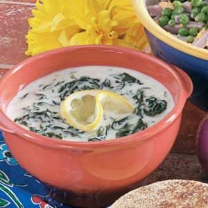 Cream of Spinach Soup Recipe