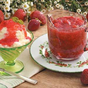 Microwave Strawberry Rhubarb Sauce Recipe