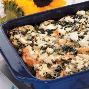 Spinach Feta Strata Recipe