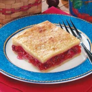 Danish Cherry Rhubarb Dessert Recipe