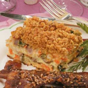 Ham Vegetable Strata Recipe