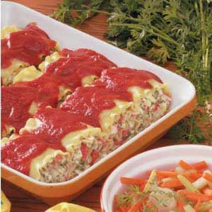 Lasagna Crab Roll Ups Recipe