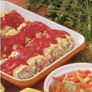 Crab Lasagna Roll-Ups Recipe